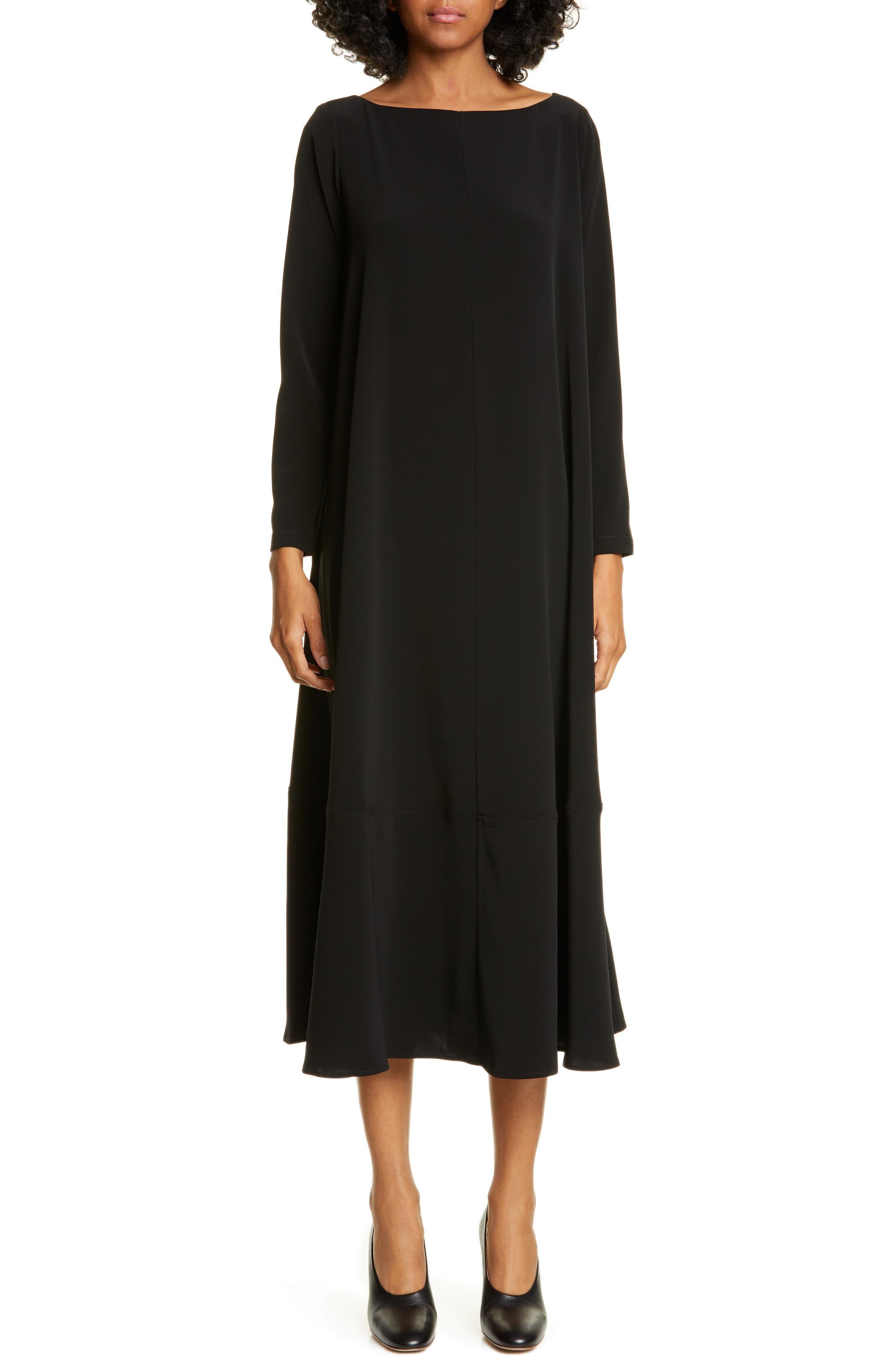 Women S Co Bateau Neck Long Sleeve Midi Dress Size Small Black In 2021 Long Sleeve Midi Black Dress With Sleeves Long Sleeve Midi Dress [ 4048 x 2640 Pixel ]