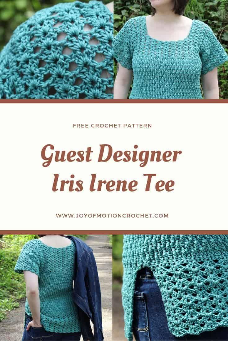Iris Irene Tee - FREE Crochet Top Pattern