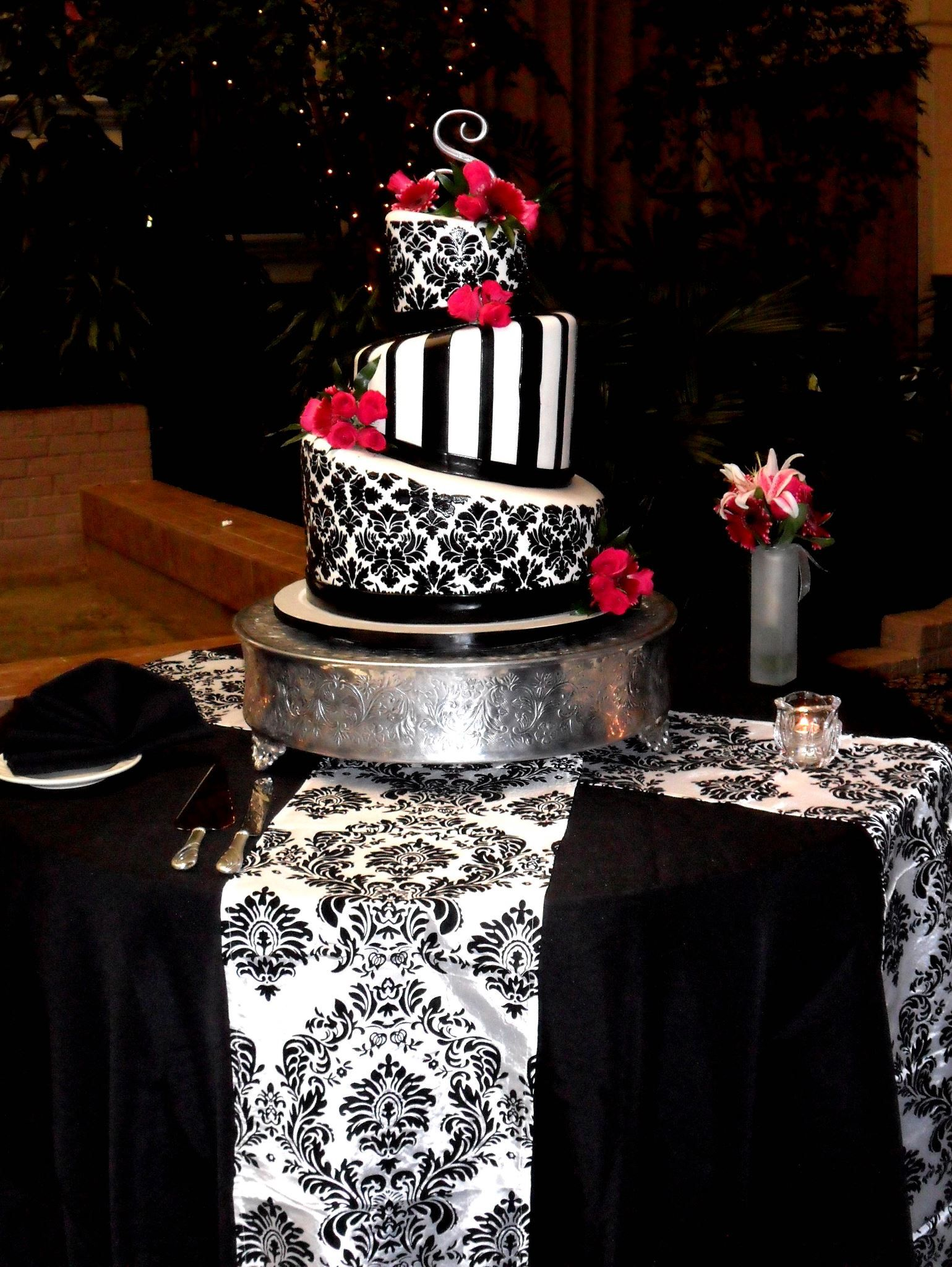 Awesome Fabulous Black White Red Cake From Monkey And Me Sweets Custom Birthday Cards Printable Giouspongecafe Filternl