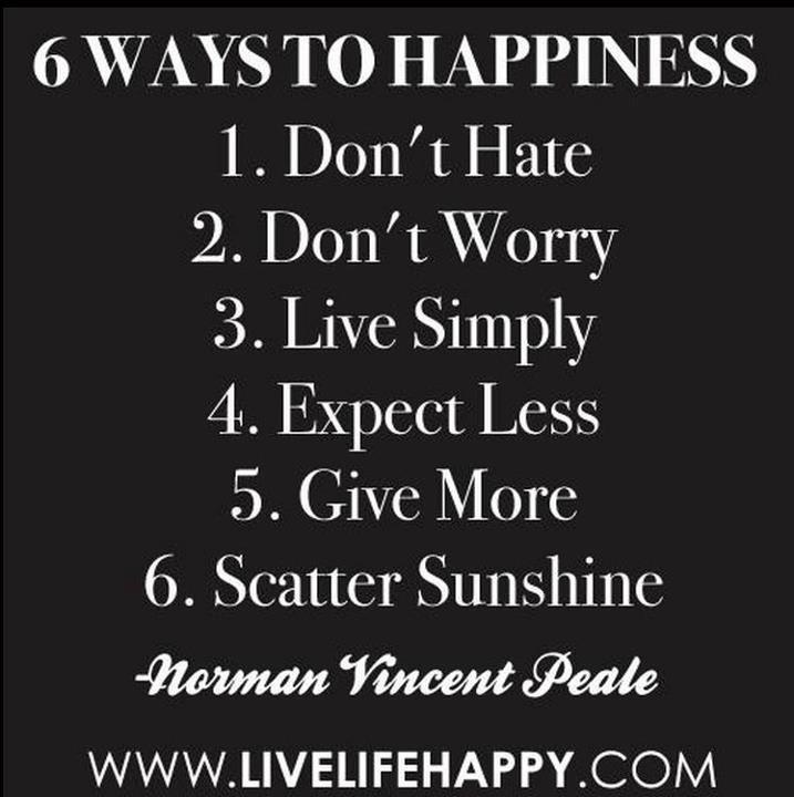 6 caminos a la Felicidad.