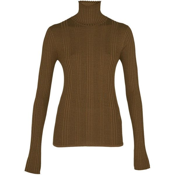 Thin Ribs Turtle Neck Sweater (33.160 RUB) ❤ liked on Polyvore ...