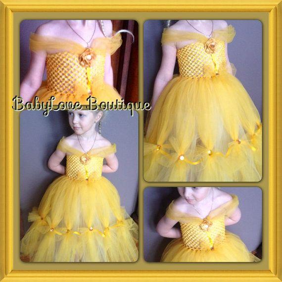 Belle Inspired Princess Tutu Dress 55 00 Via Etsy