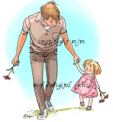 Father And Daughter Children Illustration Childrens Illustrations Father