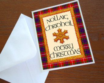Outlander Gaelic Christmas Greeting Printable Print Greeting Card Art Digital Image A2 4.25x5.5 DIY Word Document doc INSTANT Download P76