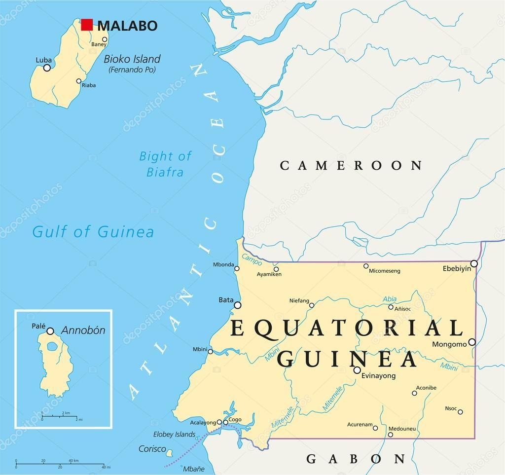 Telecharger Carte Politique De La Guinee Equatoriale Illustration