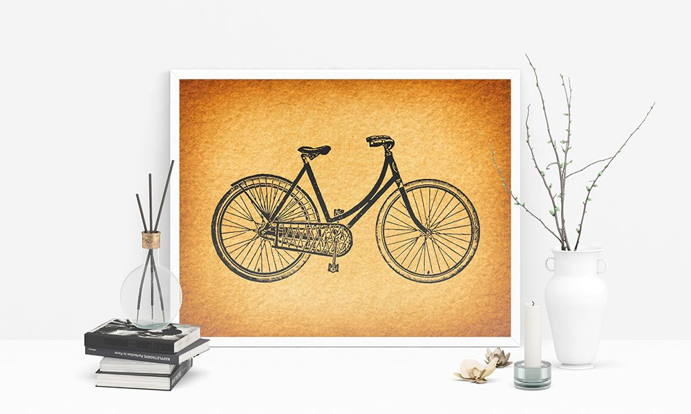 Famous Bicycle Wall Art Decor Picture Collection - All About Wallart ...
