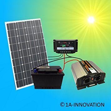 Komplette 220v Solaranlage Tüv Akku 100w Solarmodul 1000w
