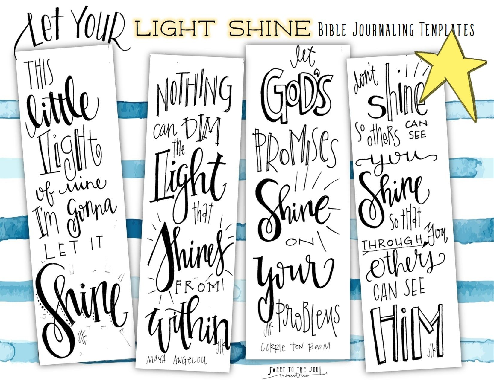 free bible journaling templates let your light shine let your
