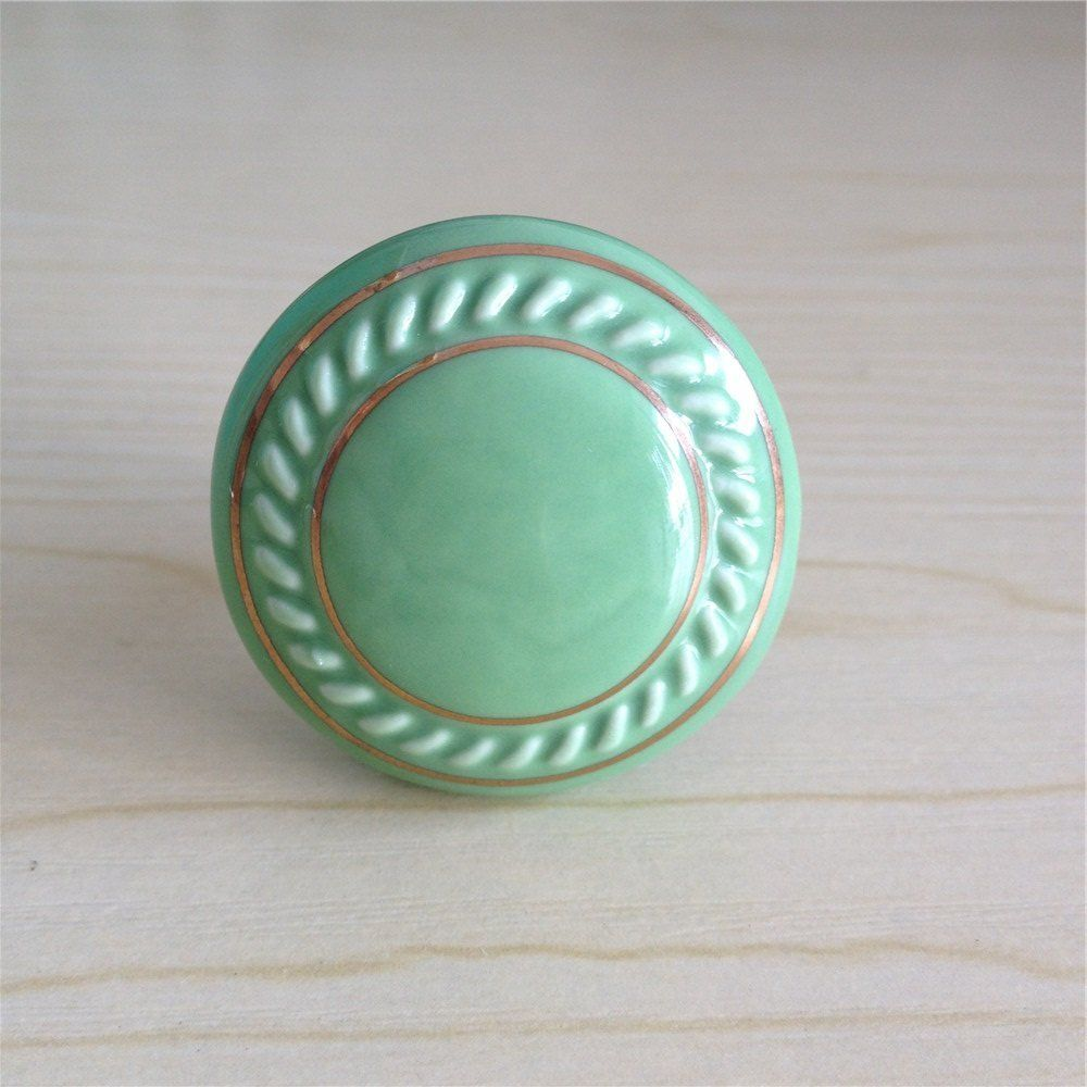 SunKni 39mm 10Pcs Ceramic Round Knobs Pulls Handles for Cabinets ...