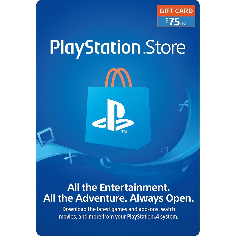 75 PlayStation Store Gift Card PS3/ PS4/ PS Vita