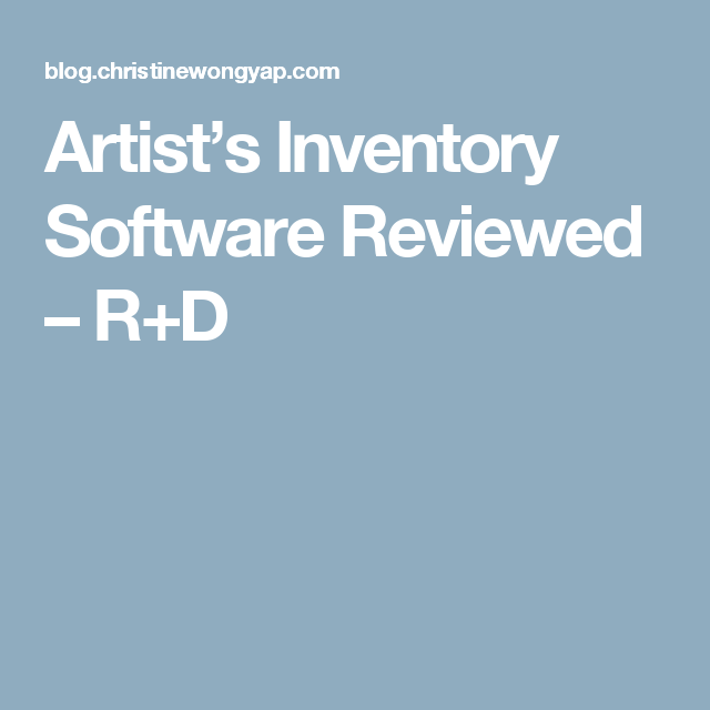 Artist S Inventory Software Reviewed R D Kids Computer Video Game Ratings Software