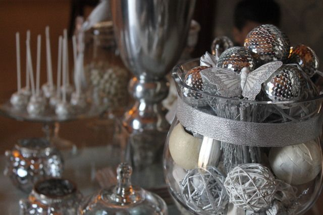 Silver Christmas Party #silver #christmas