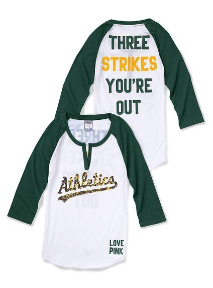 503a92cbe365d Victoria's Secret A's Baseball T-Shirt | Clothes | Baseball shirts ...