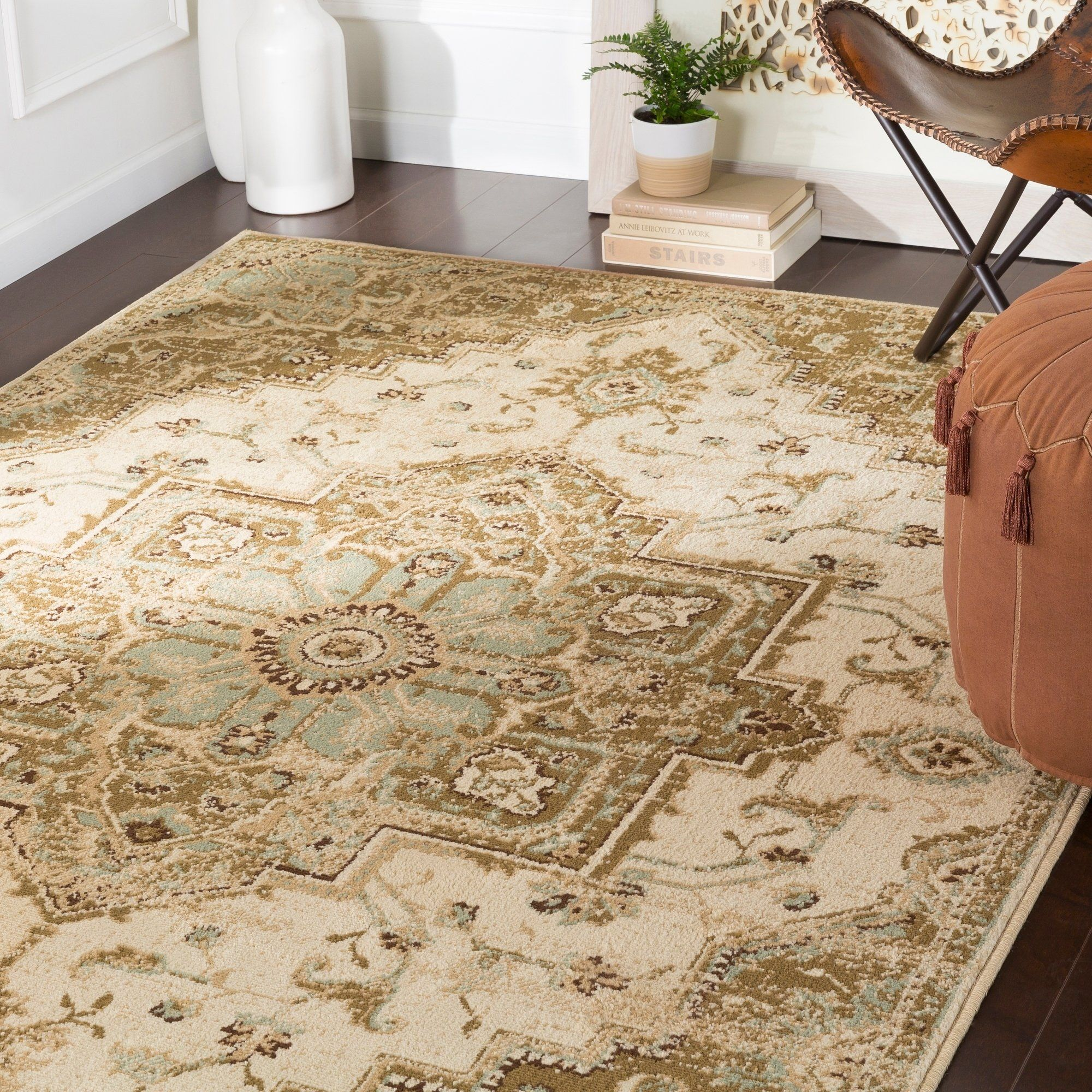 Demetria Traditional Beige Area Rug 7 9 X 11 2 7 9 X 11 2