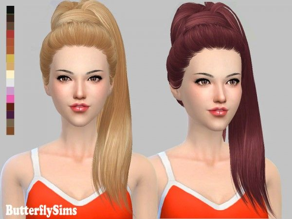 Hairstyles Games Butterflysims Bflysims Hair Af132No Hat  Sims 4 Downloads  The