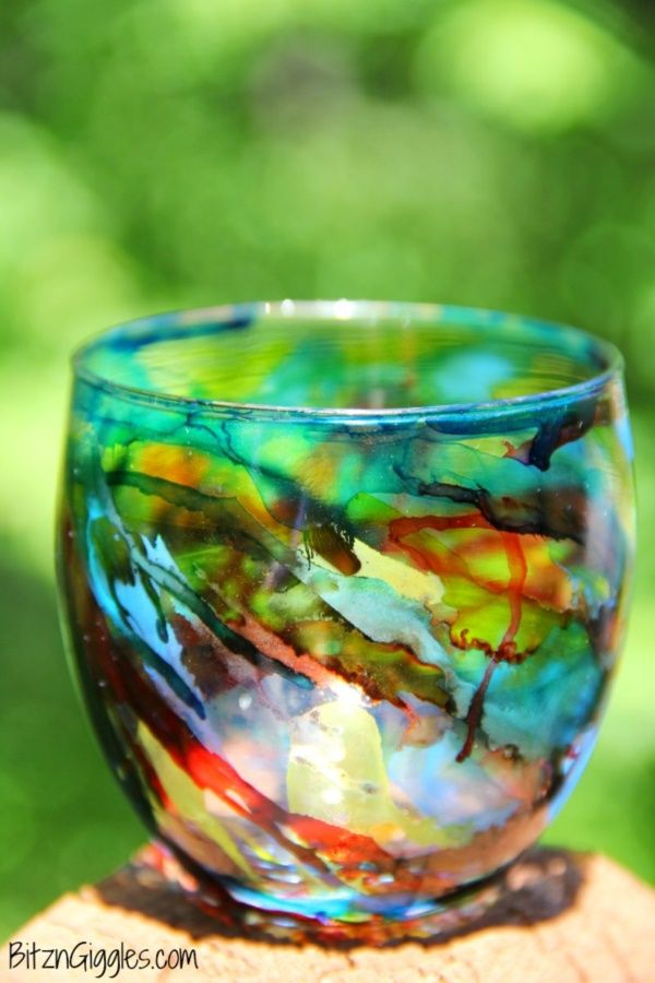 40 Original Alcohol Ink On Glass Examples #alcoholinkcrafts