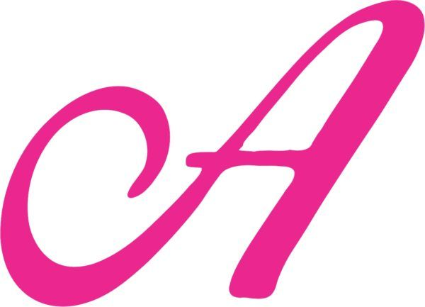 Pink Cursive A Monogram sticker | Signs and Symbols | Pinterest ...
