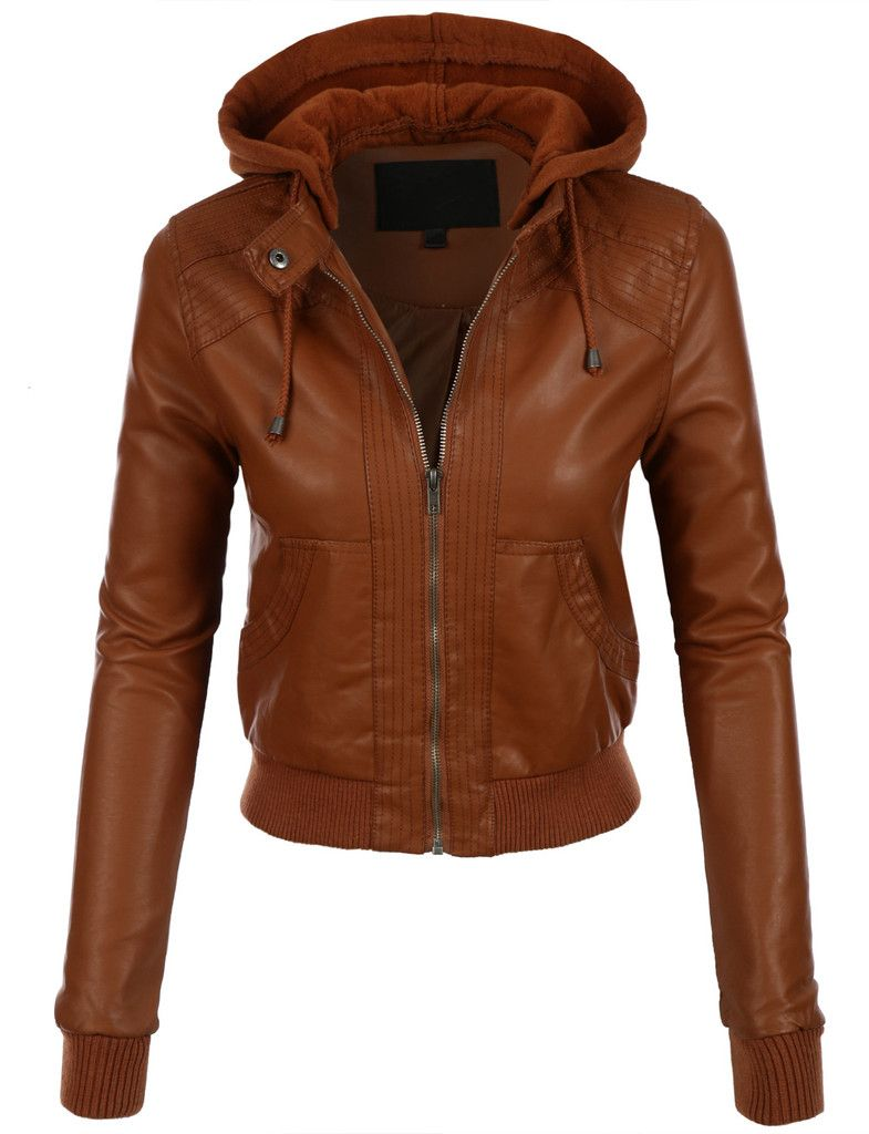 Le3no Womens Faux Leather Bomber Jacket With Fleece Hood Faux Leather Bomber Jacket Faux Leather Bomber Womens Faux Leather [ 1024 x 785 Pixel ]