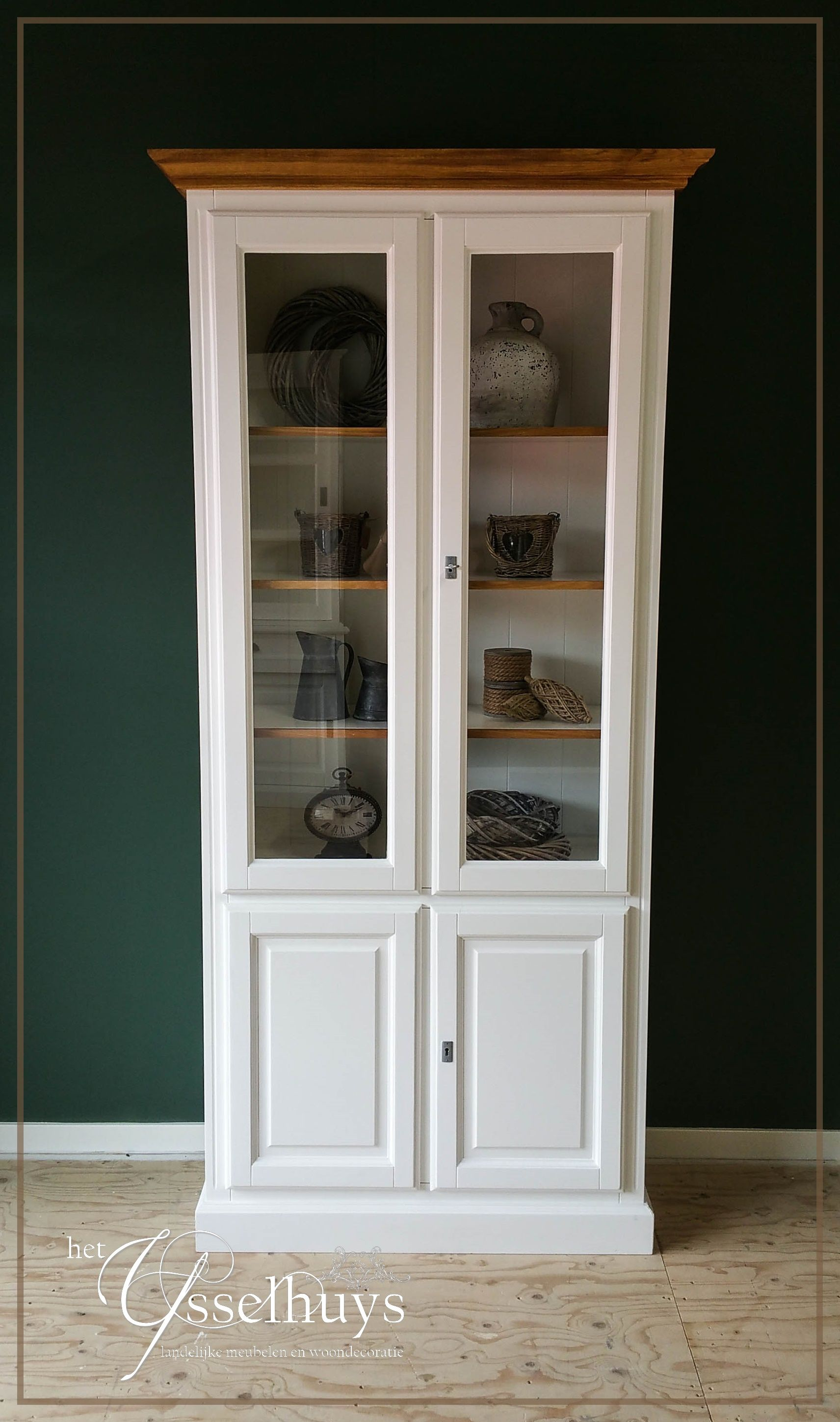 Vitrinekast Landelijk Wit.Vitrinekast Landelijk Wit Home Ideas Furniture China Cabinet