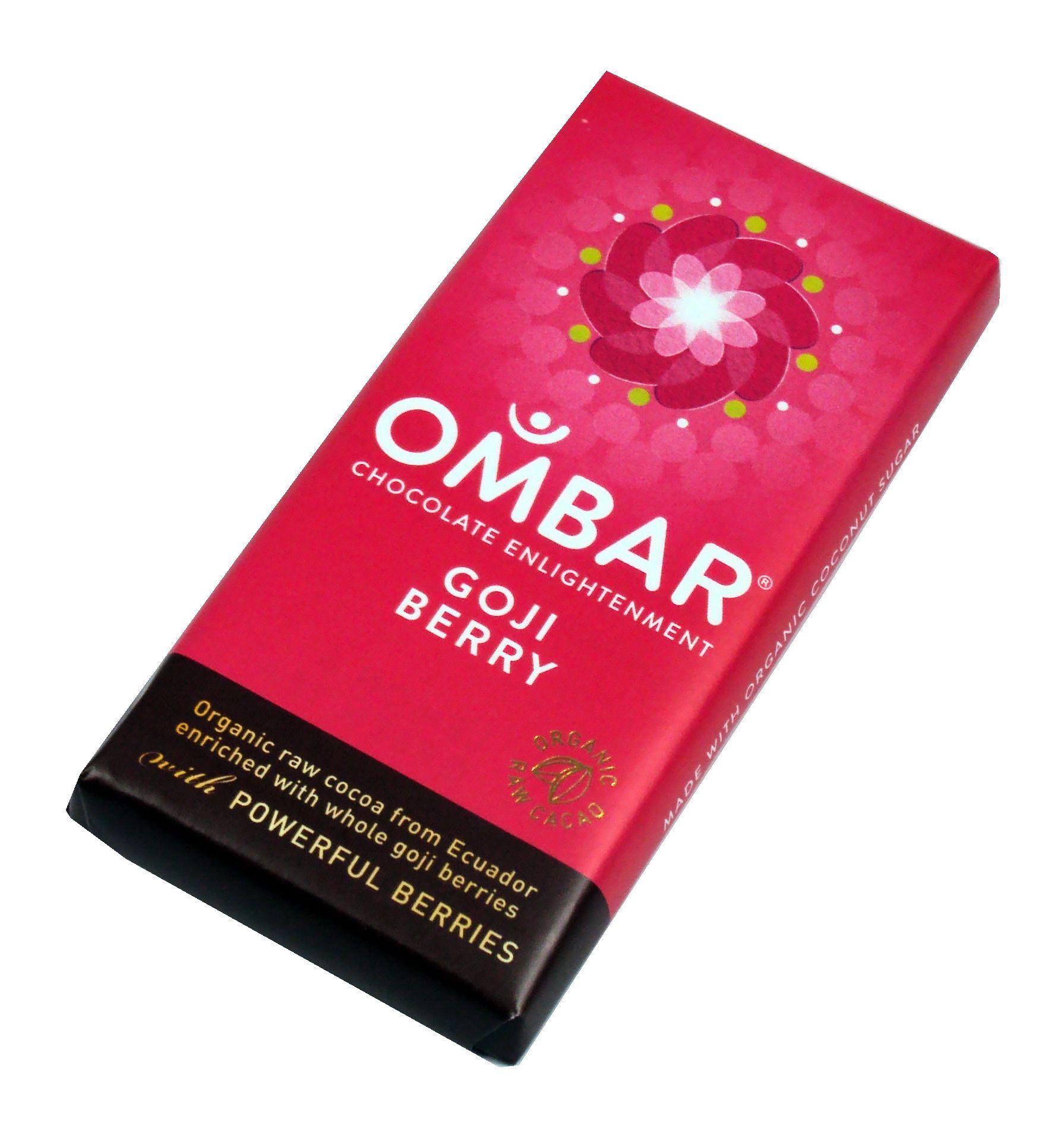 Goji Berry Ombar Raw Chocolate Bar