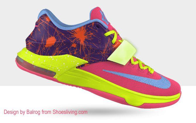 Colorful custom NIKE KDS shoes