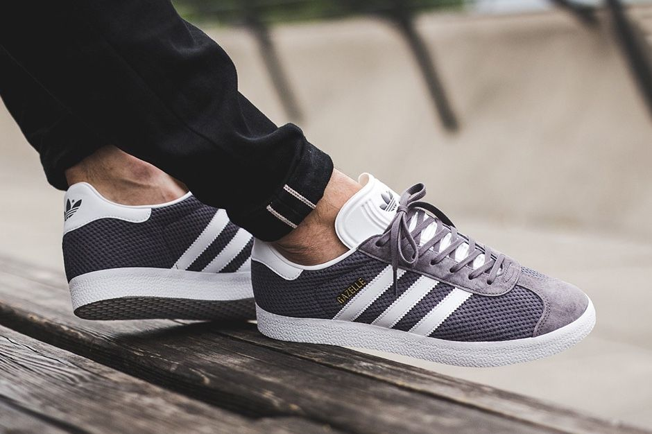 adidas gazelle man grey