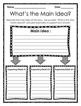 Graphic Organizer: What\'s the Main Idea?