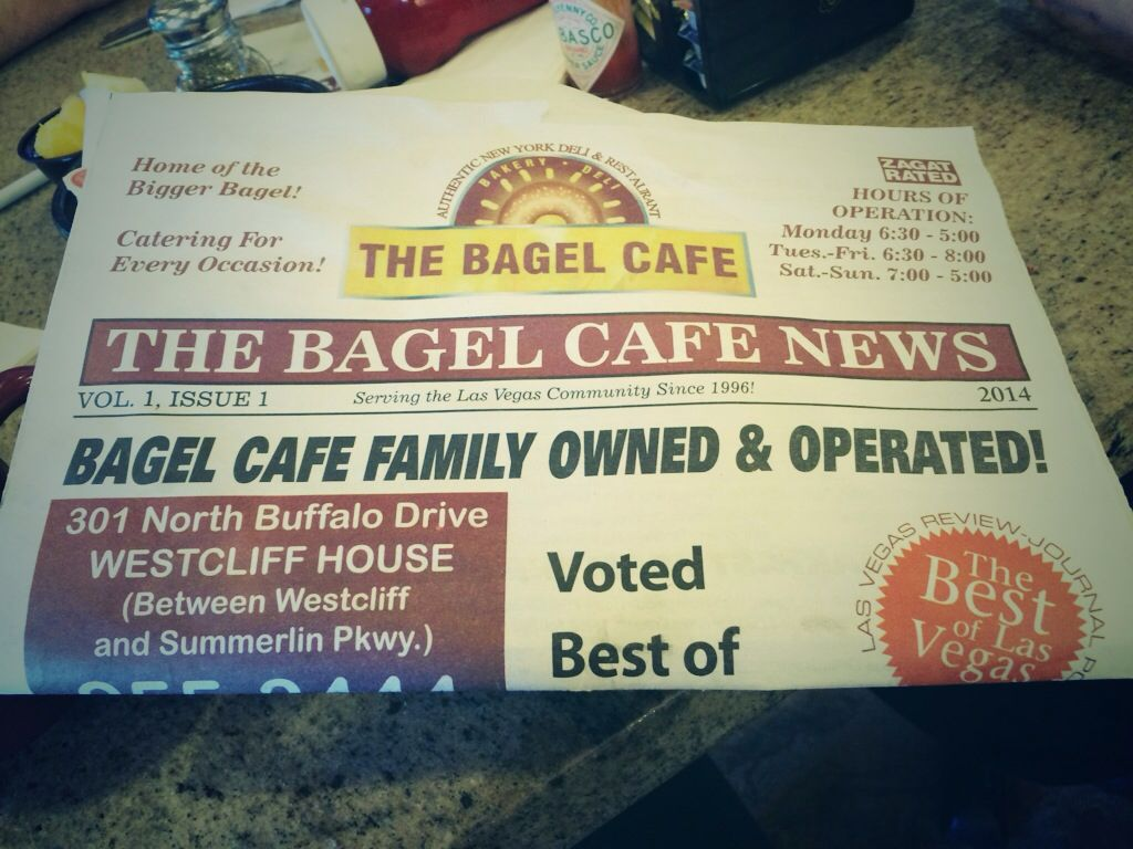 ~ Delicious Times await you at The Bagel Cafe!