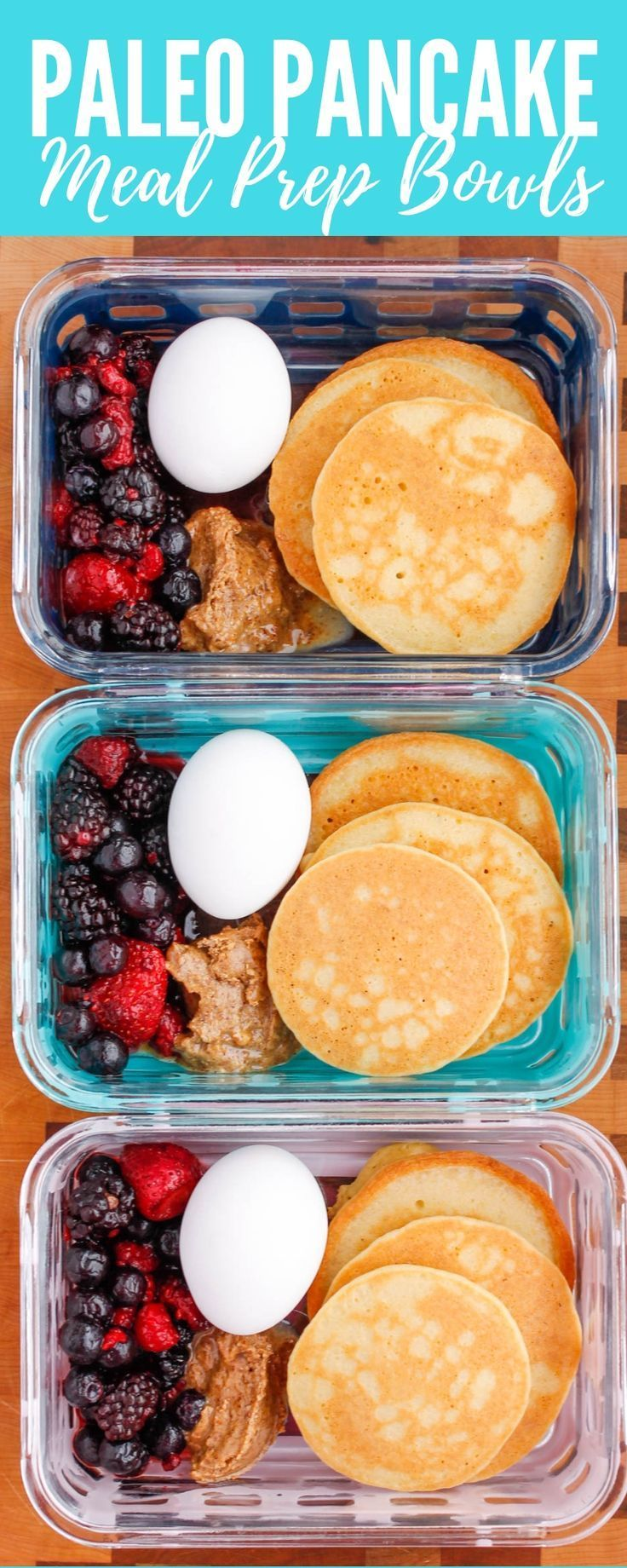 Paleo Pancake Breakfast Meal Prep Bowls images