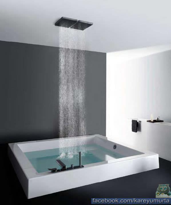 Caos 2 zucchetti kos vasca bagno grande quadra 180 x180 for Kos arredo bagno