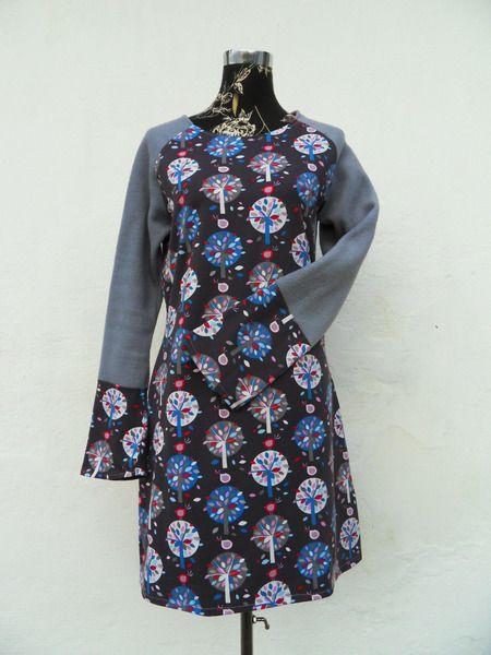 Herbst Winter Kleid Langarm Jerseykleid Jersey von ...