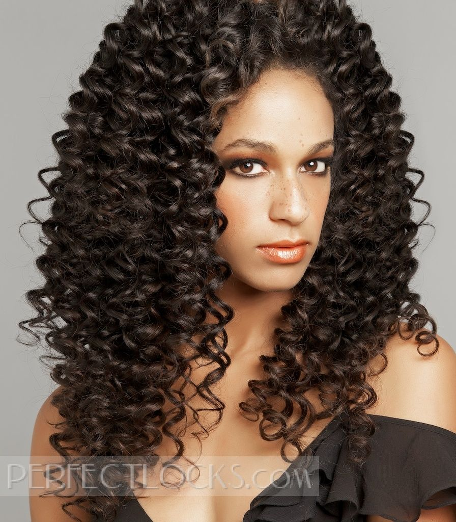 tight curly steam permed weave | shop perfect locks | curly