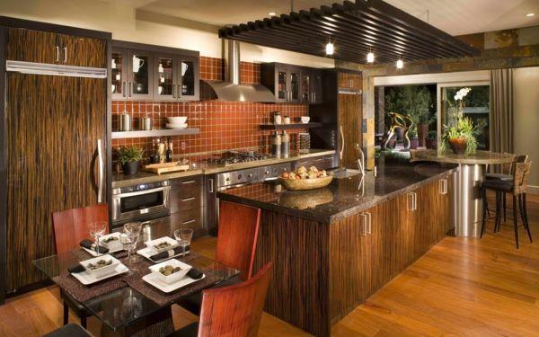 moderne küche einrichten holzküche ideen | Küche - Einrichtungsideen ...