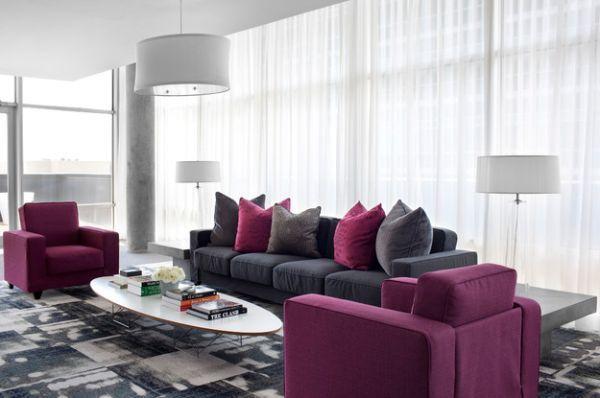 Wohnlandschaft, Sofa, Möbel (15068569) - RESTPOSTENde LIVING - wohnzimmer in grau und lila
