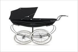 Antique inspired baby pram