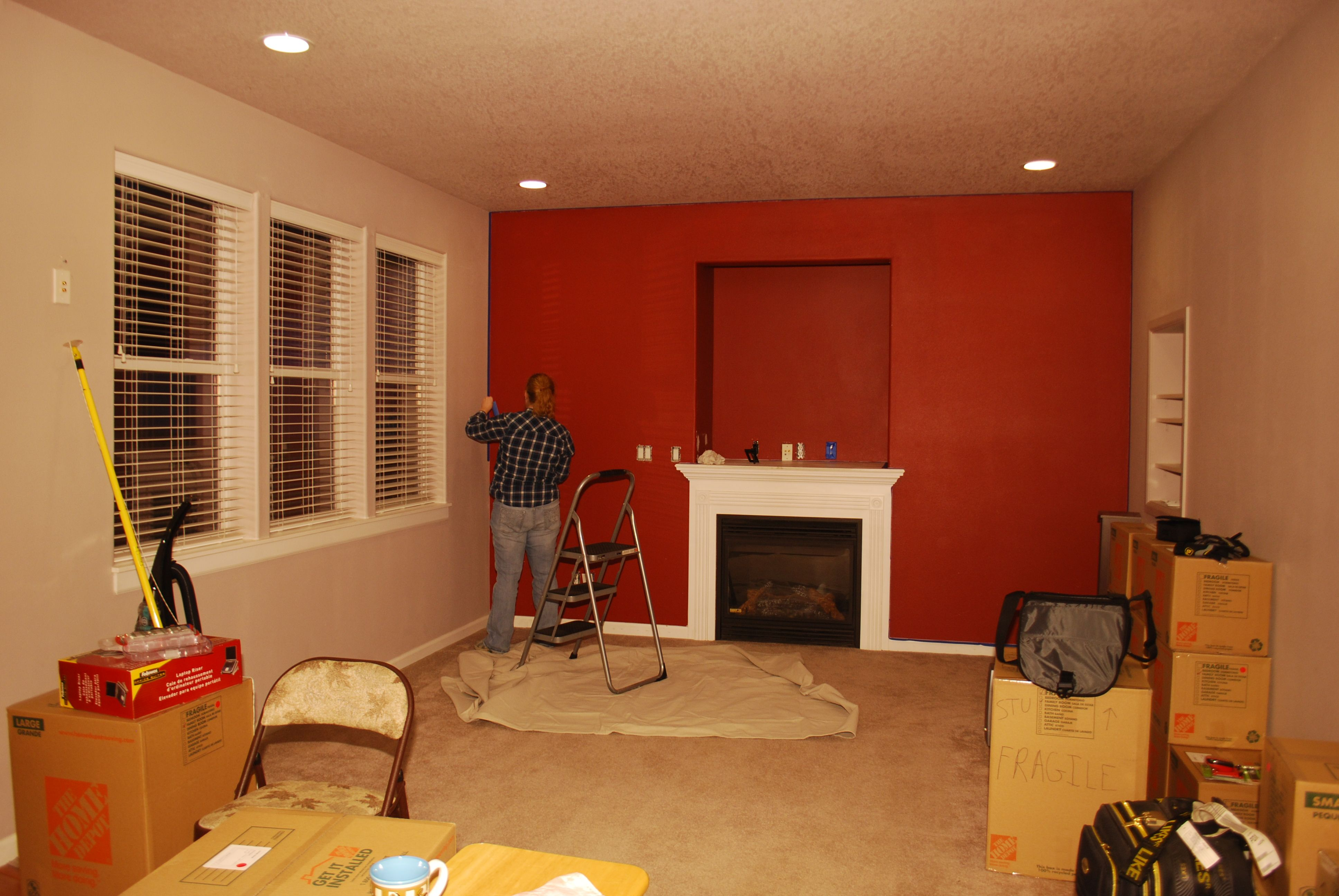 Living Room Red Paint