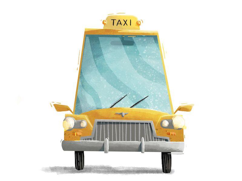 Taxi Cab Taxi Cab Taxi Drawing Taxi