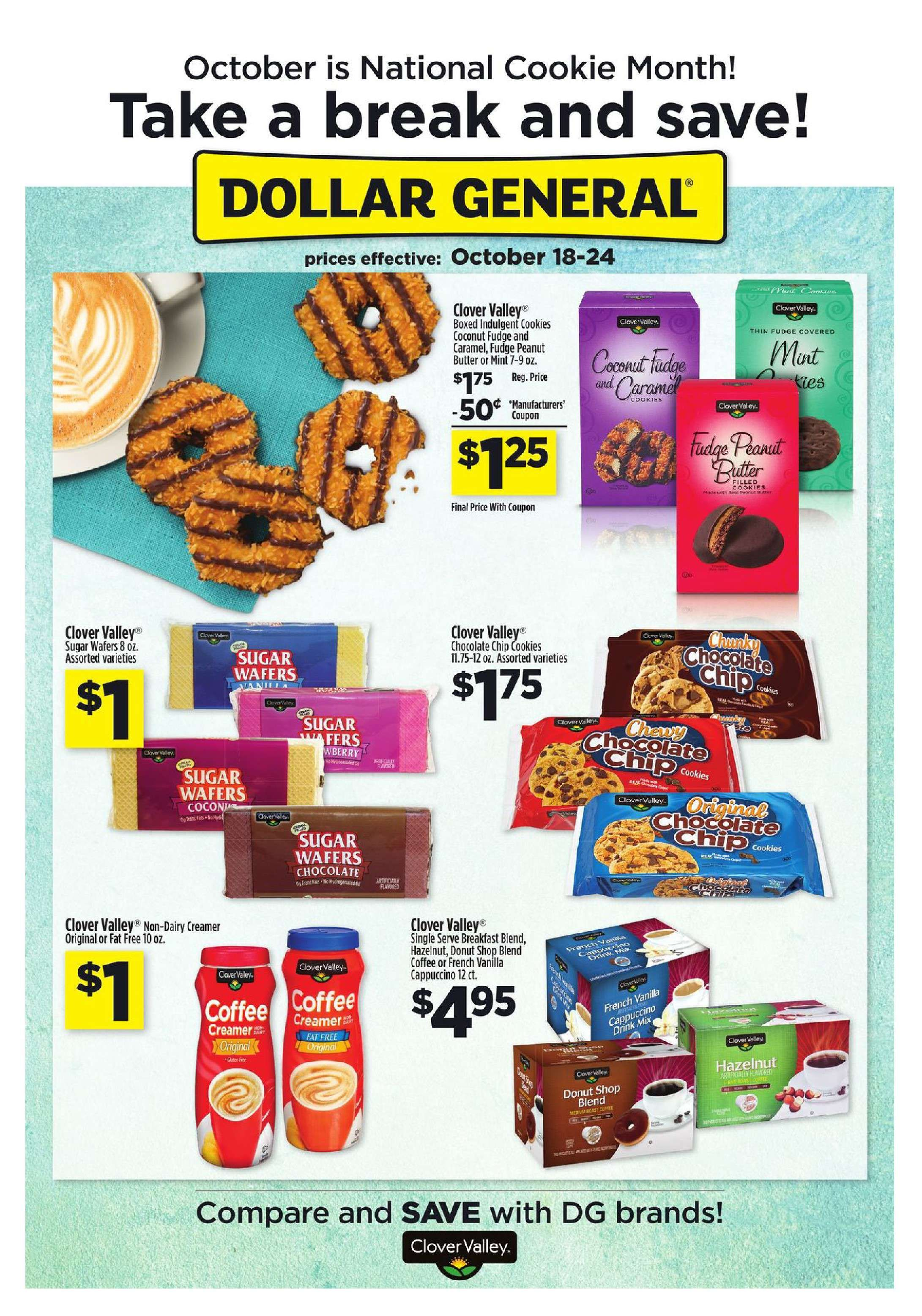 Dollar General Weekly Ad October 18 - 24, 2015 - http://www