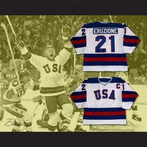 Miracle On Ice Mike Eruzione Jim Craig Hockey Jersey Sewn Any Player Hockey Jersey Team Usa Hockey Hockey