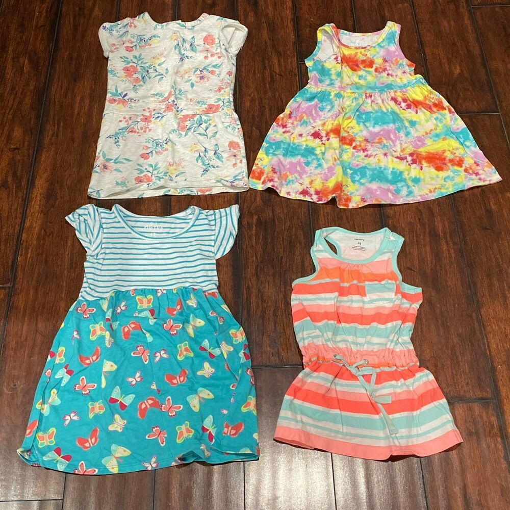 Lot Of Toddler Dresses Size 4t Summer Beach Cover Ups Everyday Playwear Carters Casual Everyday Toddler Dress Beach Cover Ups Fashion [ 1000 x 1000 Pixel ]