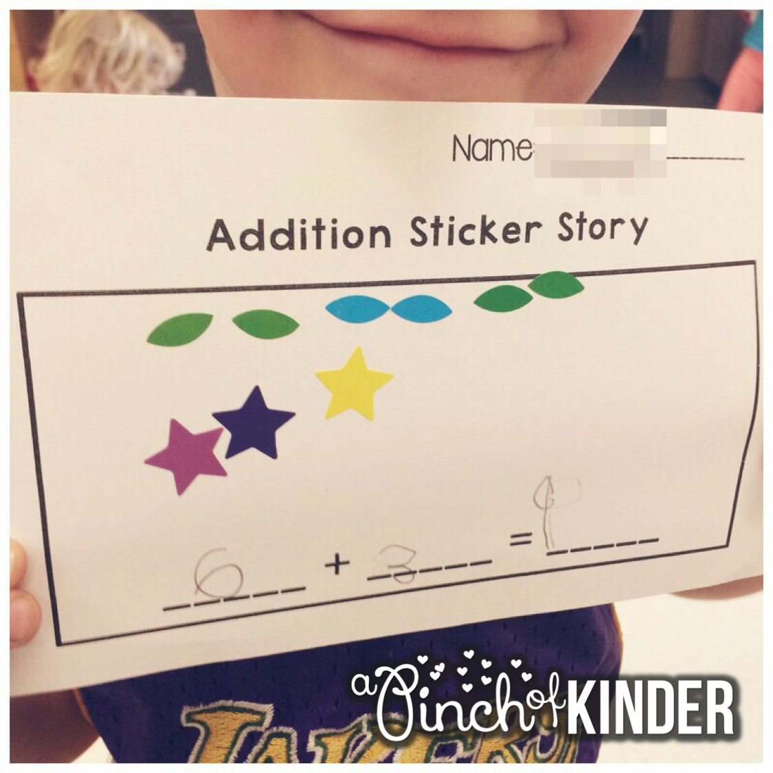 A Pinch Of Kinder Addition And Subtraction Sticker Story