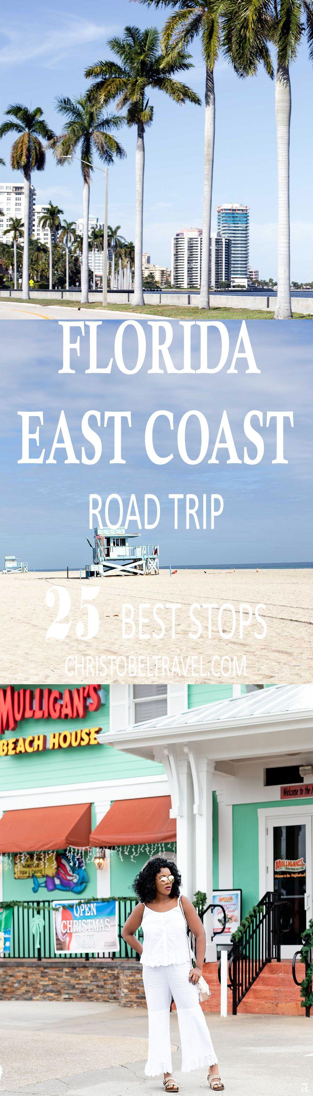 Florida East Coast Road Trip 25 Best Stops The Florida East Coast Road Trip Is One Of The Most Scenic Driv Florida East Coast East Coast Road Trip Road Trip