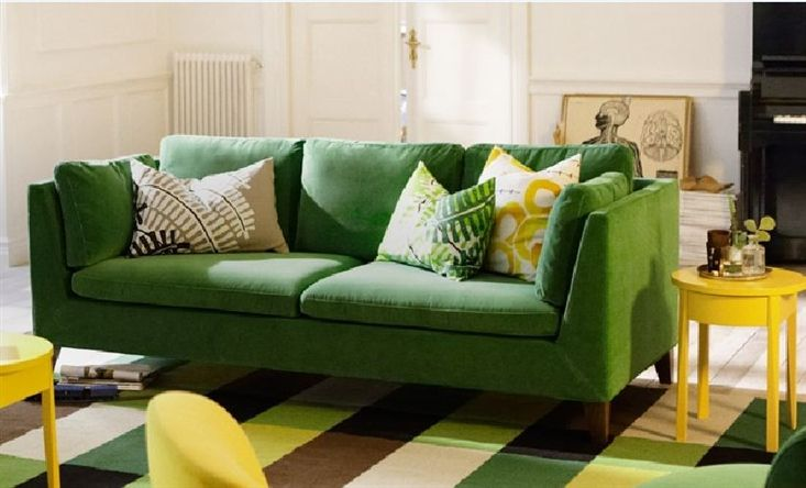 LOVE The Stockholm Green Velvet Sofa! Via @IKEA Share Space
