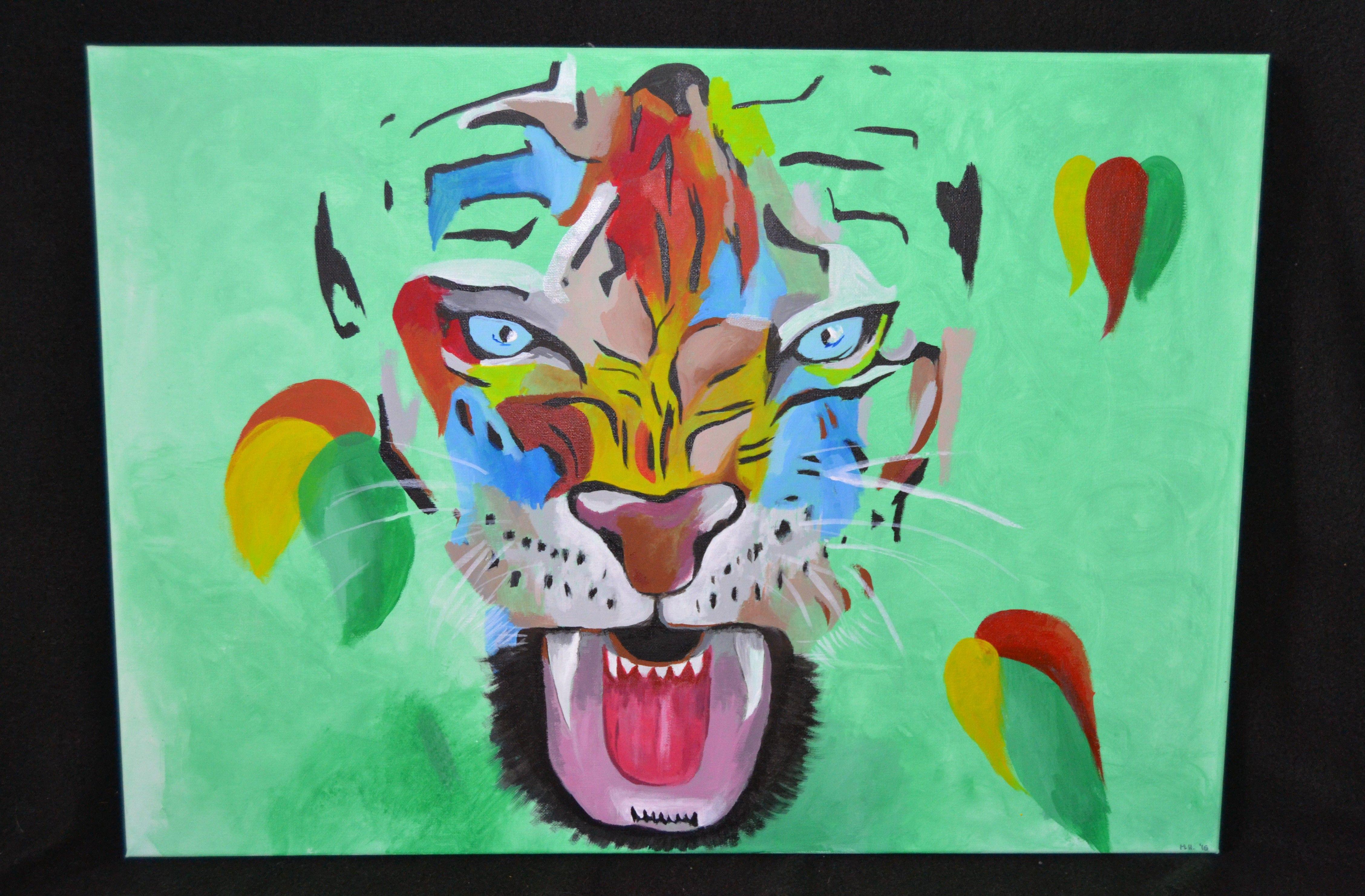 Bunter Tigerkopf // Colorful tiger head