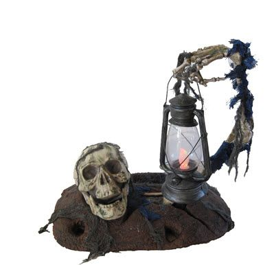 Ground Breaker with Lantern - Decorations  Props Halloween - skull halloween decorations