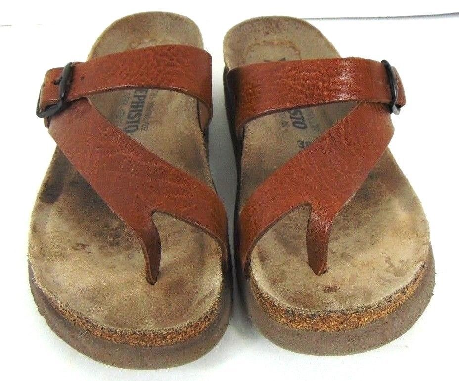 96dc989691 Womens Mephisto Air Relax Helen Toe Loop Sandals Brown Leather Size 8 Euro  38 #fashion #clothing #shoes #accessories #womensshoes #sandals (ebay link)