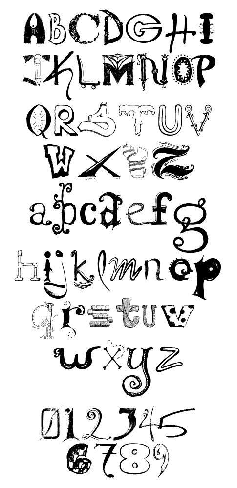 Alphabet Calligraphie Gratuit conglomerfont - police d'écriture gratuite | alphabets | pinterest