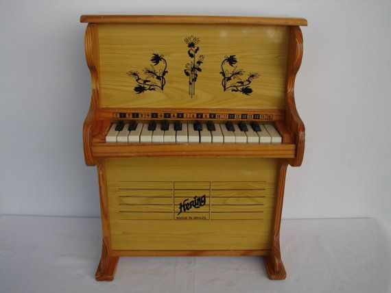 Vintage Hering Upright Child S Wooden Piano