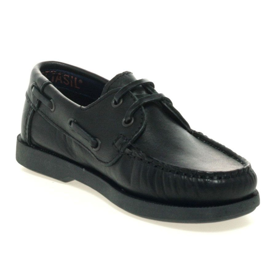 """Petasil /""""Sail/"""" stylish leather girl/'s//boy/'s school shoe with boat shoe details"""