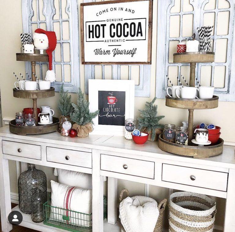 Slow Cooker Hot Cocoa Recipe and Hot Cocoa Bar #hotchocolatebar